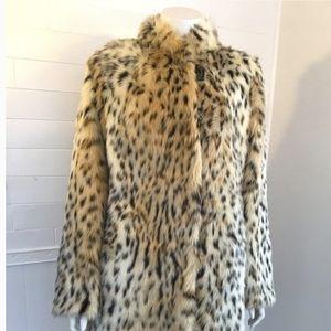 Regal Faux Fur Cheetah Print Coat